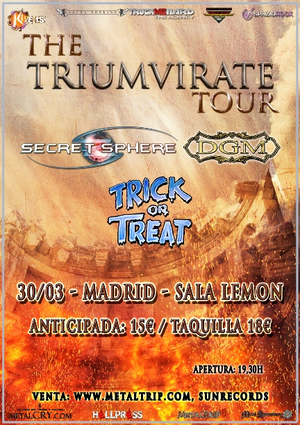 Secret Sphere, DGM y Trick Or Treat en Madrid