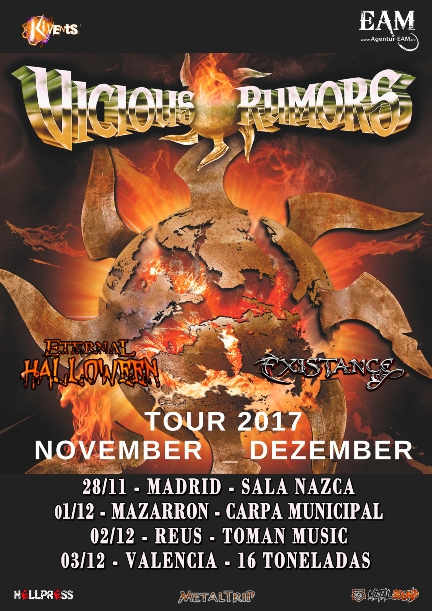 Vicious Rumors en Madrid