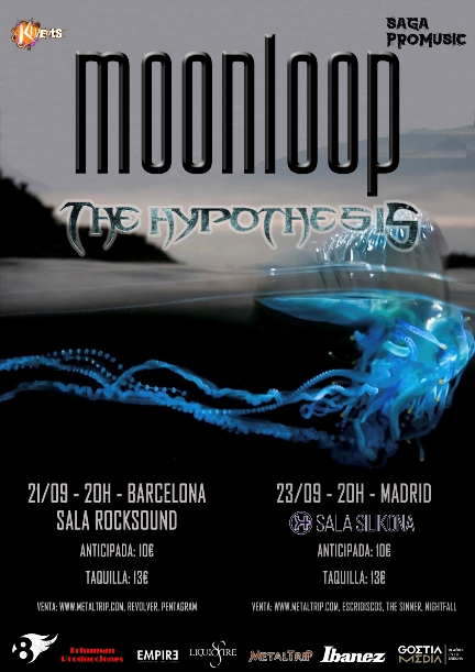 Cartel de Moonloop en Madrid