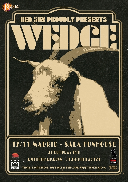 Cartel de Wedge en Madrid