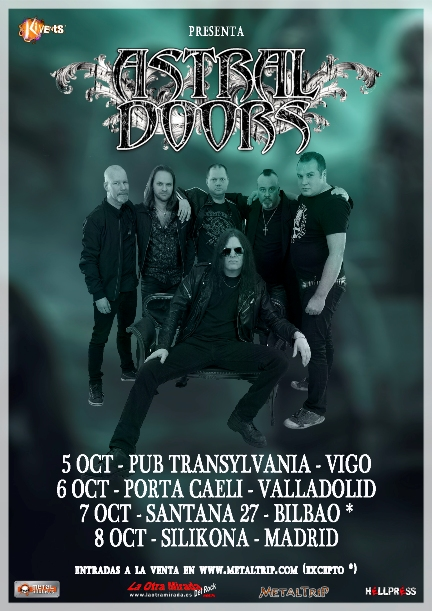 Cartel de Astral Doors en Valladolid