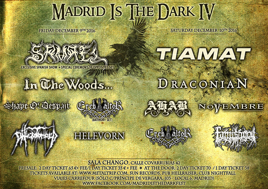 Cartel de Madrid Is The Dark - Sábado 10/12