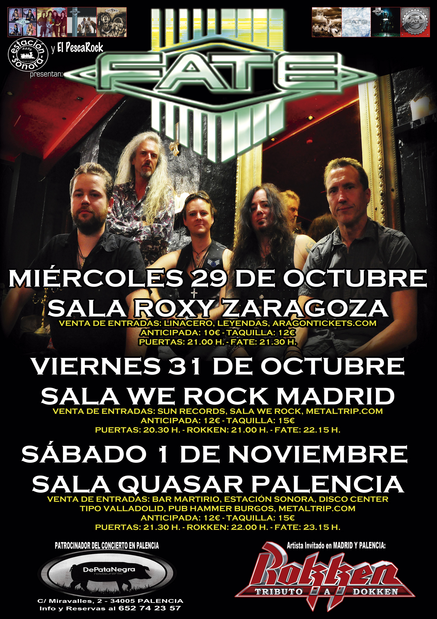 Cartel de Gira de Fate