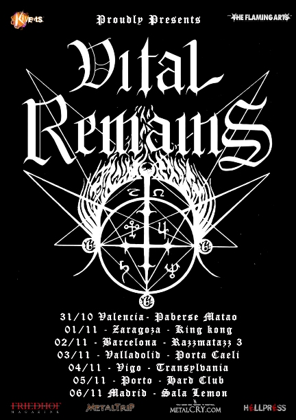 Cartel de Vital Remains en Zaragoza