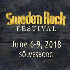 Cartel de Sweden Rock Festival 2018