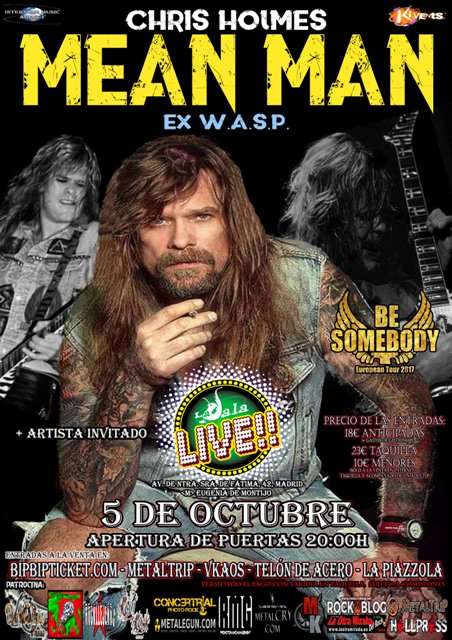 Cartel de Chris Holmes en Madrid