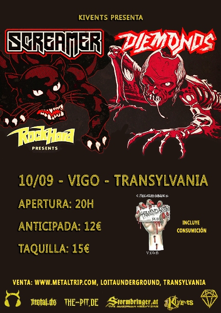 Cartel de Screamer y Diemonds en Vigo