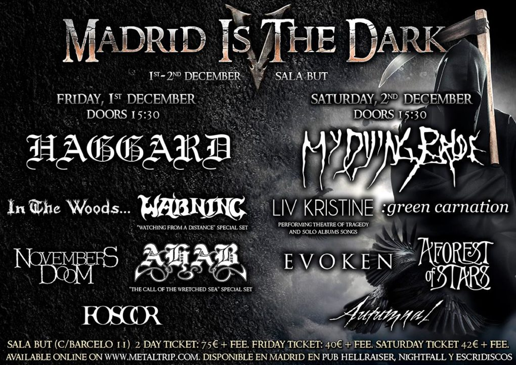 Cartel de Madrid Is The Dark Fest - Sábado 2/12