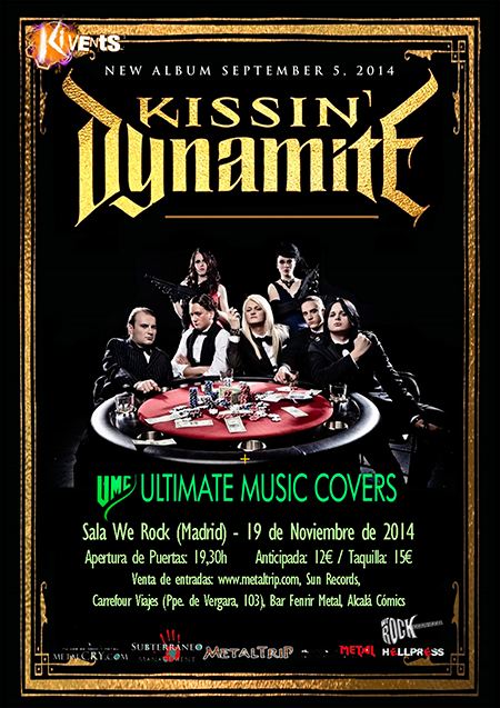 Cartel de Concierto de KISSING DYNAMITE