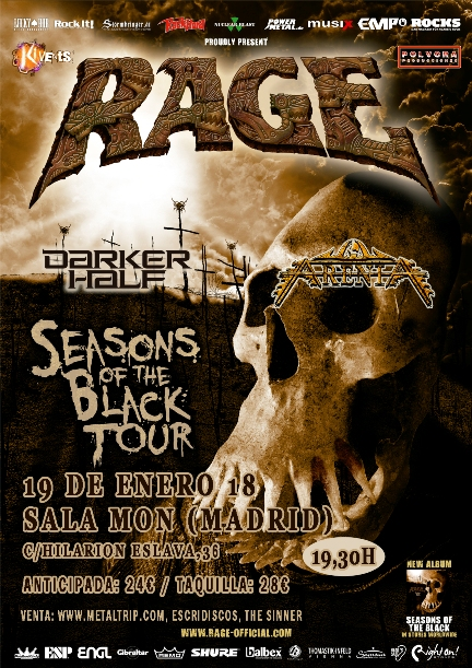 Cartel de Rage en Madrid