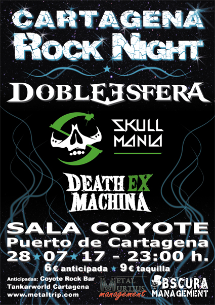 Cartel de Cartagena Rock Night