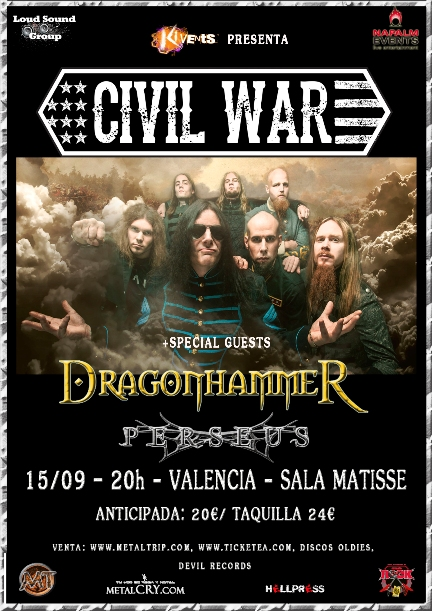 Cartel de Civil War en Valencia