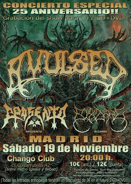 Cartel de Avulsed en Madrid