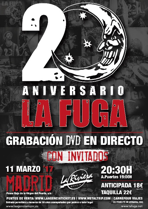 Cartel de La Fuga en Madrid