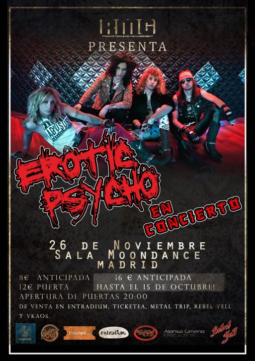Cartel de Erotic Psycho en Madrid