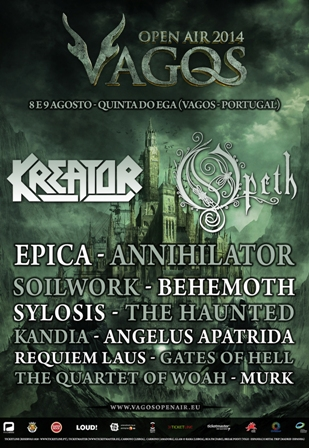 Cartel de Festival Vagos Open Air 2014 (Portugal)