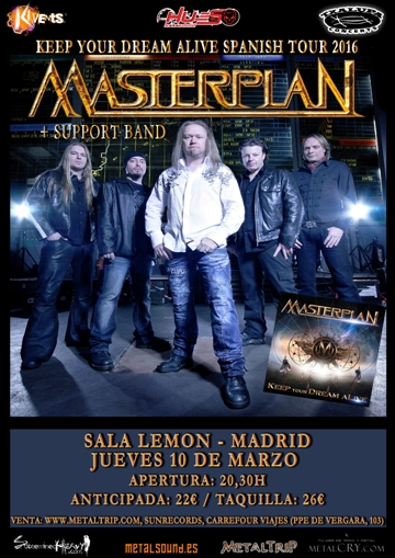 Cartel de Masterplan en Madrid
